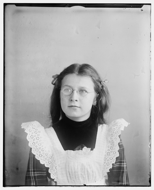 [Helen Wright, age 12, niece of the Wright brothers, daughter of Reuchlin Wright]