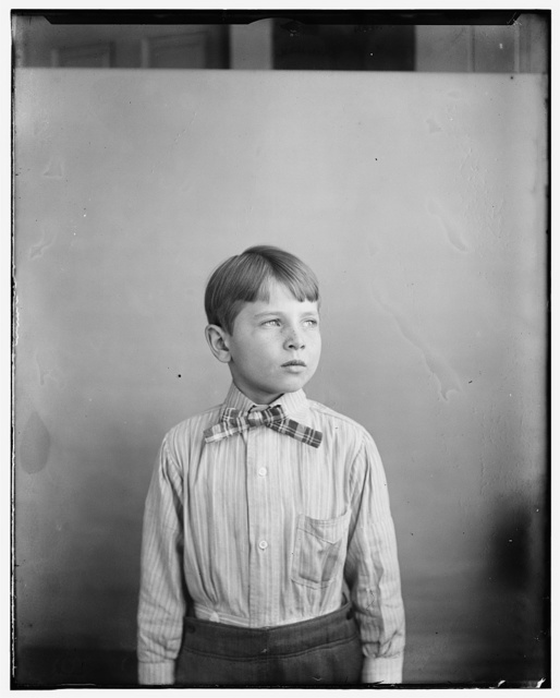 [Herbert Wright, nephew of Wilbur and Orville, son of Reuchlin Wright, age eight]