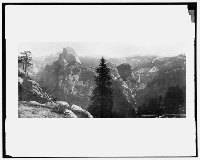 High Sierras and Tenaya Canyon from Glacier Point, Yosemite Valley, California