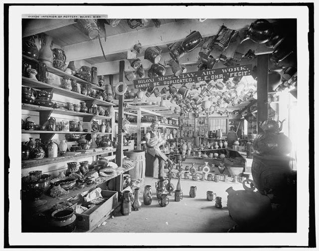 Interior of pottery, Biloxi, Miss.