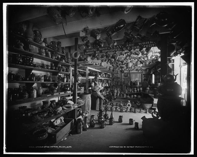 Interior of the pottery, Biloxi, Miss.