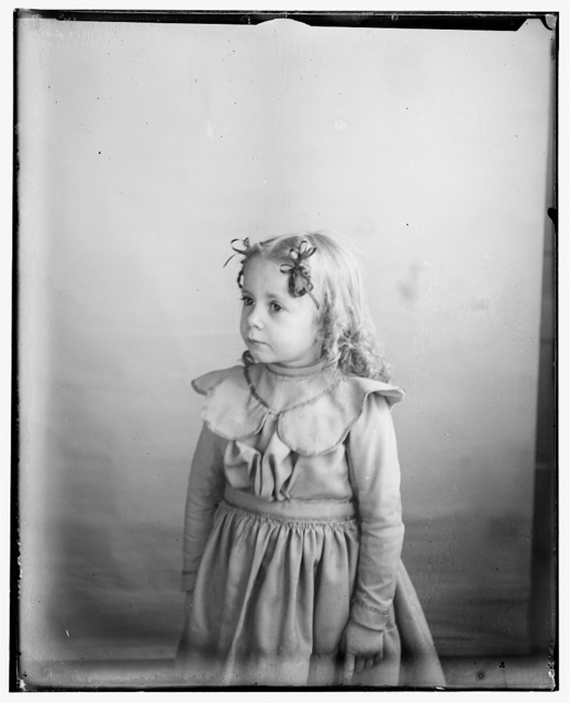 [Ivonette Wright, age five, niece of the Wright brothers, daughter of Lorin Wright]