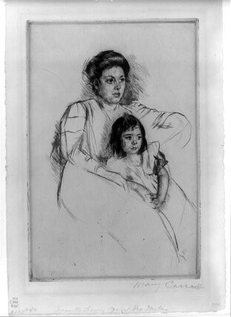 Jeannette leaning against her mother about 1901