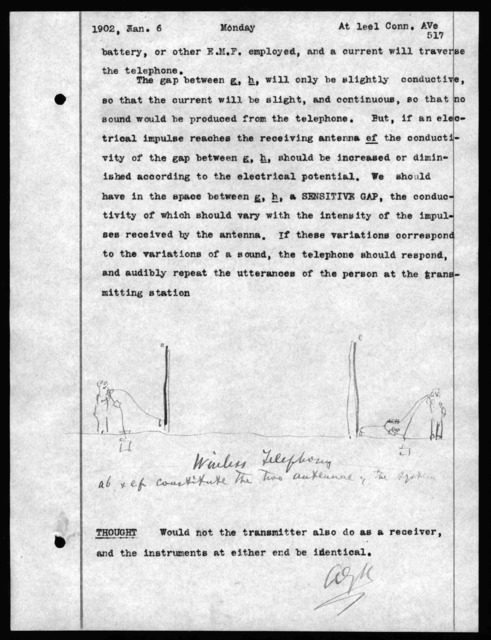 Journal by Alexander Graham Bell, from November 7, 1901 to April 29, 1902