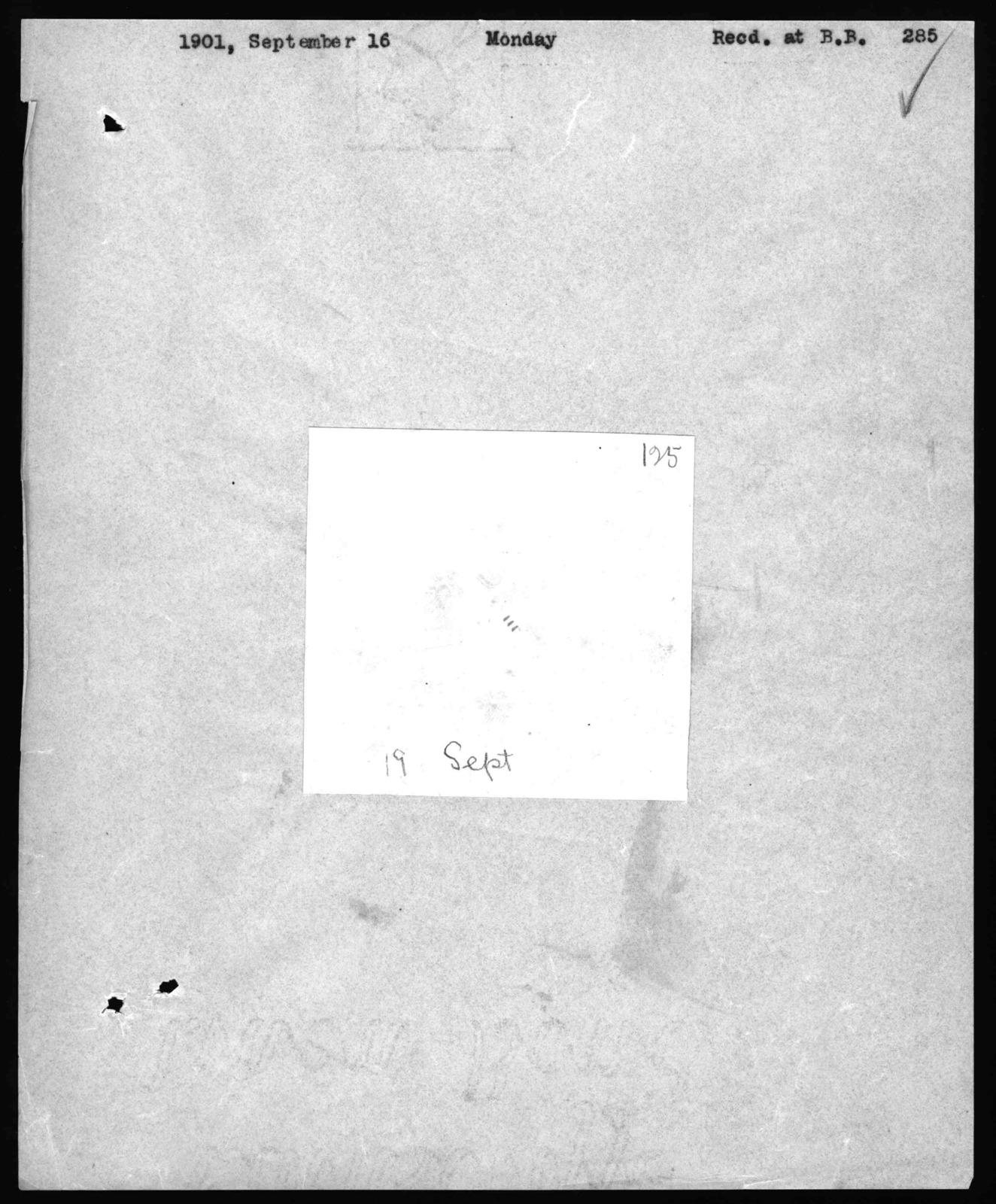 Journal by Alexander Graham Bell, from September 2, 1901 to October 29, 1901