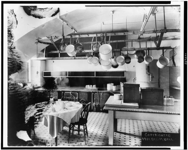 [Kitchen in the White House, Washington, D.C.]