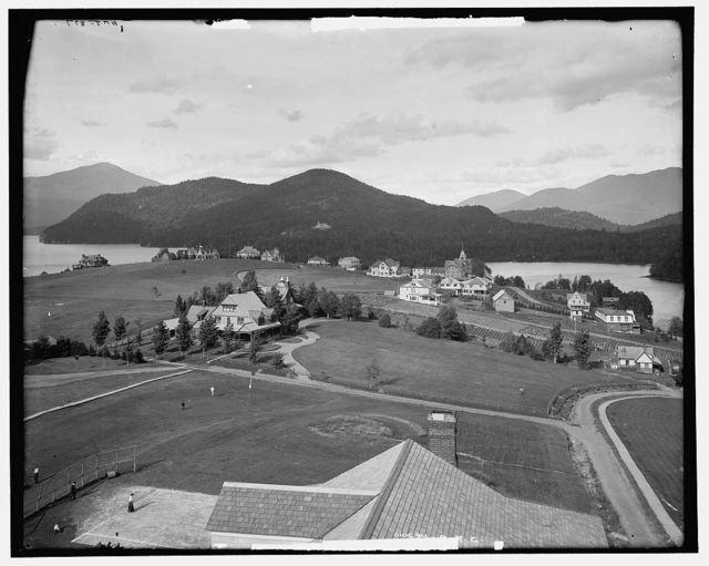 Lake Placid and Mirror Lake, Adirondack Mountains