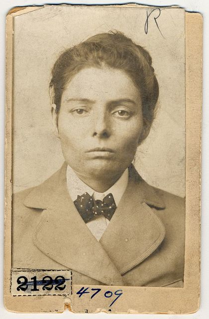 [Laura Bullion, member of the Wild Bunch gang, head-and-shoulders portrait]