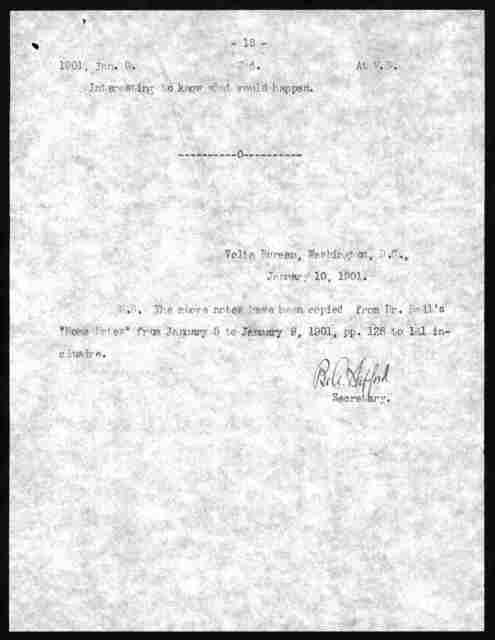 Letter from Alexander Graham Bell to Wilbur M. Phelps, January 10, 1901