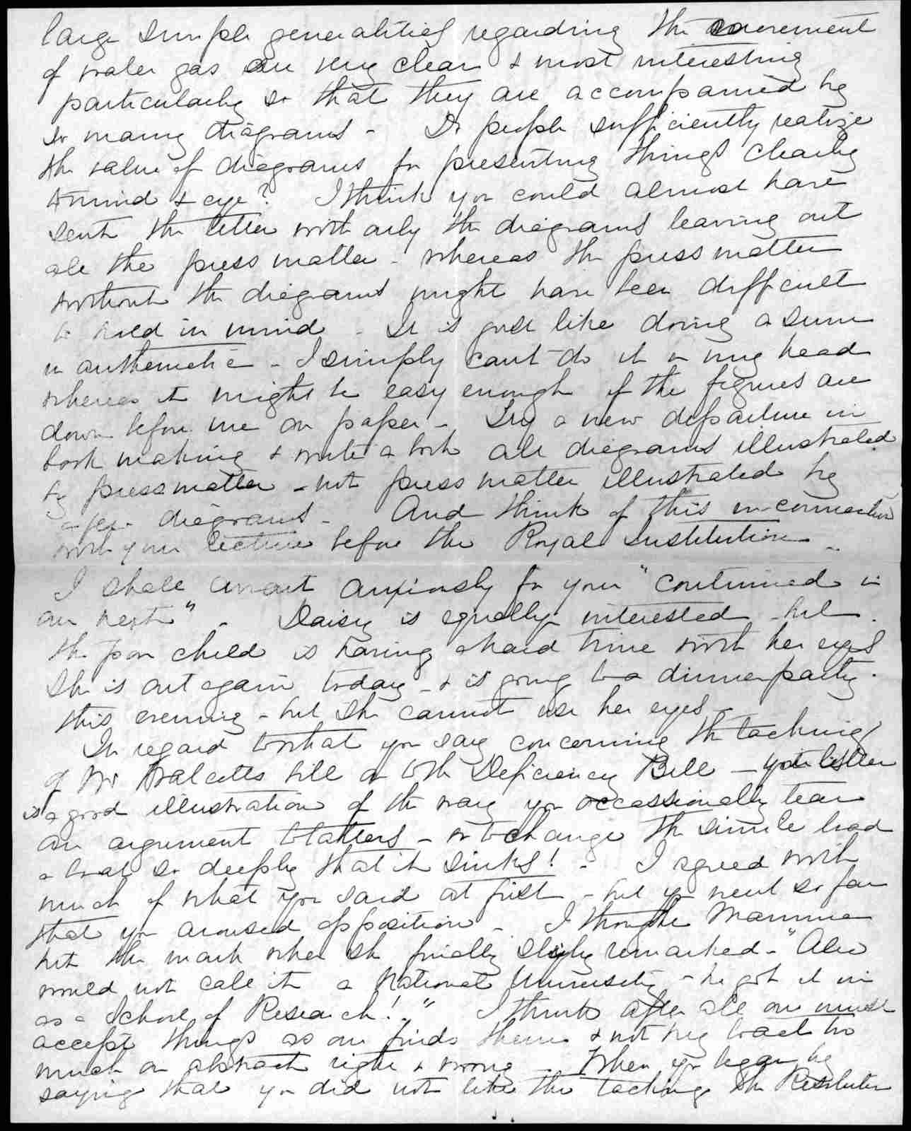 Letter from Mabel Hubbard Bell to Alexander Graham Bell, from March 7, 1901 to March 8, 1901