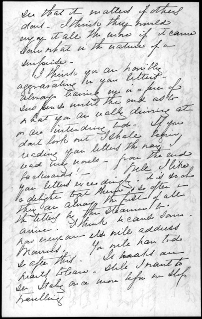 Letter from Mabel Hubbard Bell to Alexander Graham Bell, March 5