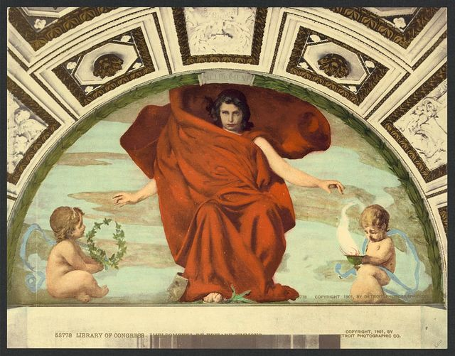 """Library of Congress """"Melpomene"""" by Edward Simmons"""