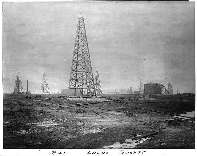 Lucas gusher [Spindletop, Beaumont, Port Arthur, and vicinity, Texas - oil industry].