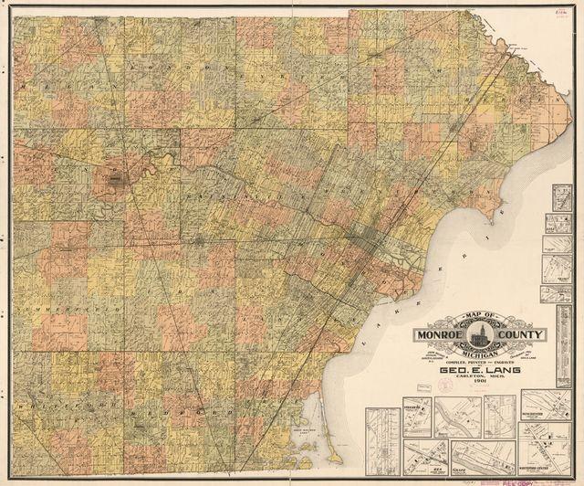 Map of Monroe County, Michigan /