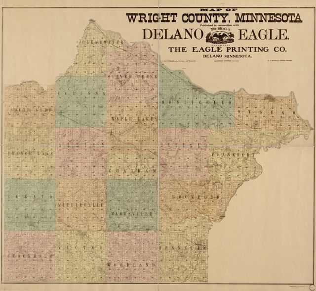 Map of Wright County, Minnesota : published in connection with The weekly Delano eagle /