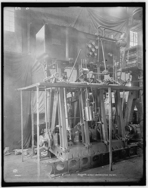 [Marine engines made by Detroit Shipbuilding Co., a triple expansion]