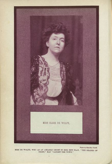 Miss Elsie de Wolfe / Photo by Miss Ben Yusuf.