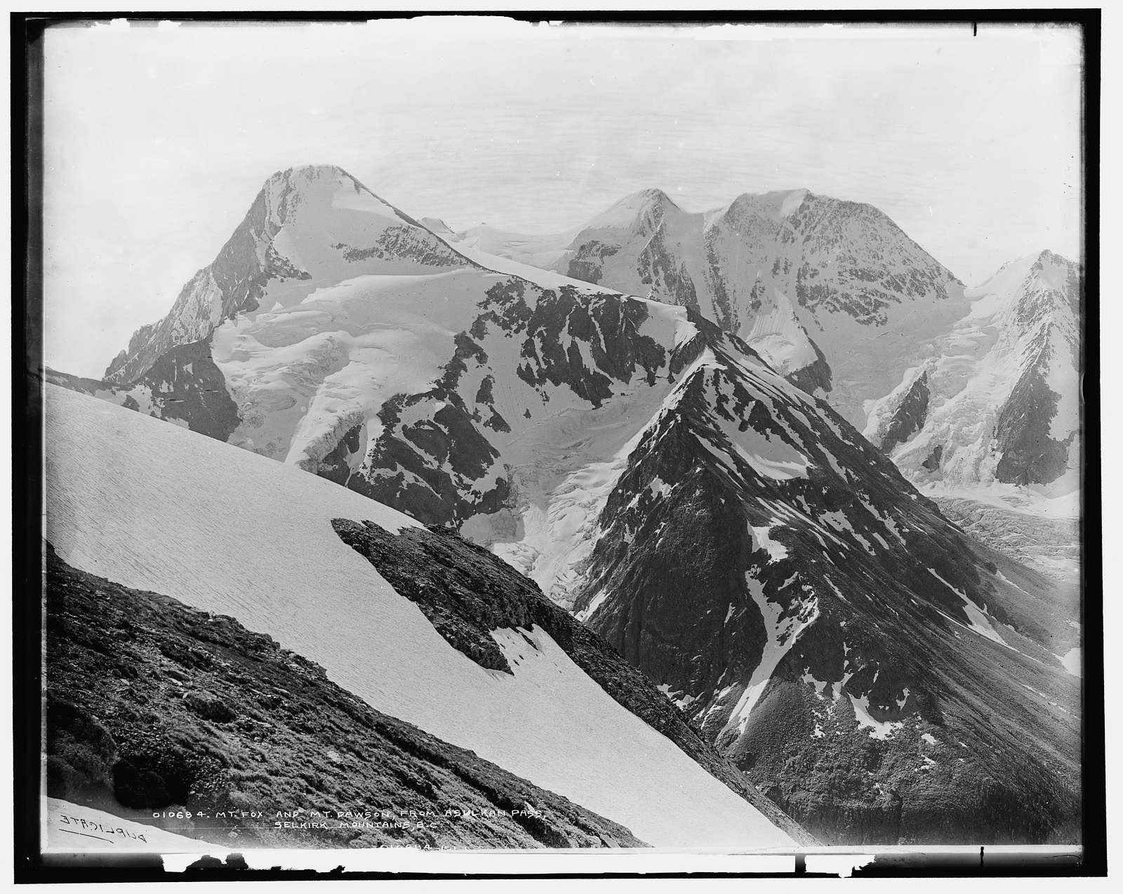 Mt. Fox and Mt. Dawson from Asulkan Pass, Selkirk Mountains, B.C