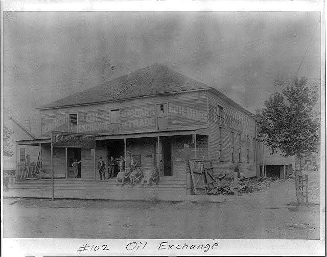 Oil exchange [Spindletop, Beaumont, Port Arthur, and vicinity, Texas - oil industry].