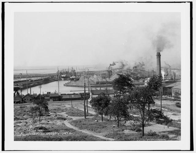 [Ore dock and harbor, Cleveland, Ohio]