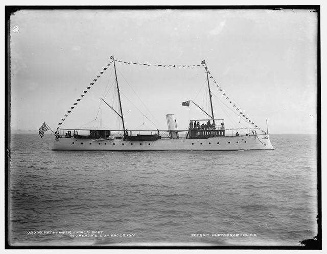 Pathfinder, judge's boat in Canada's Cup races, 1901