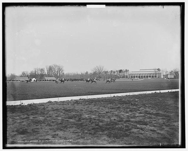 Polo grounds at Georgian Court, Lakewood, N.J.