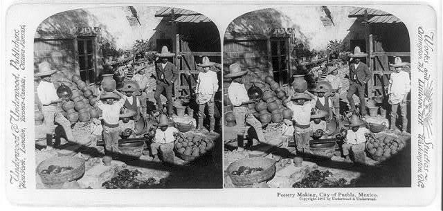Pottery making, City of Puebla, Mexico