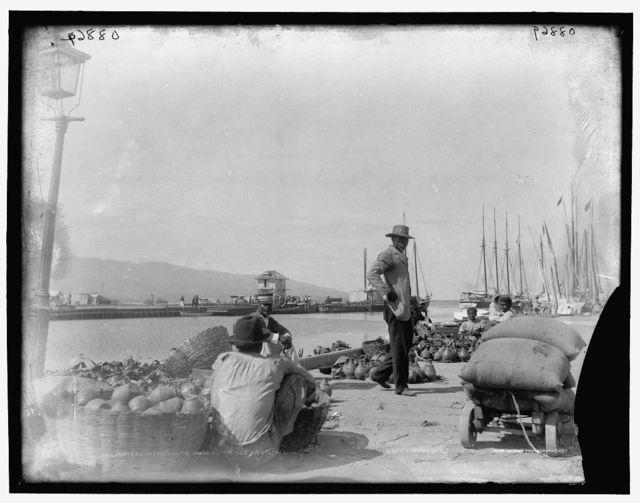 Pottery merchants, Port-au-Prince, Hayti, W.I.