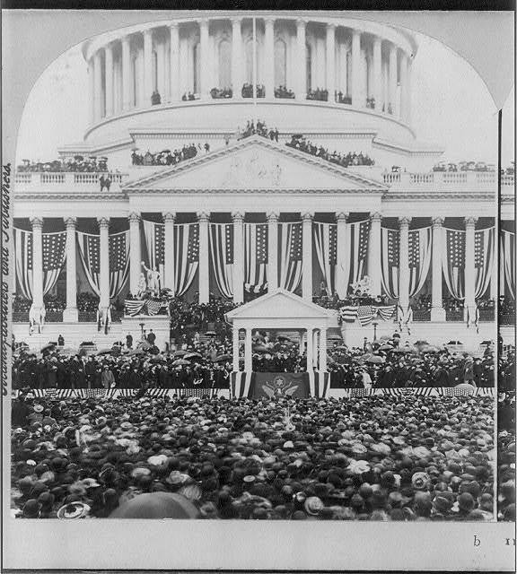 President McKinley delivering his second Inaugural, March 4, 1901