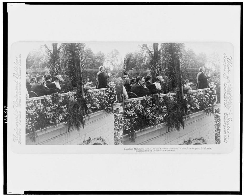 President McKinley in the land of flowers - Soldiers' Home, Los Angeles, California