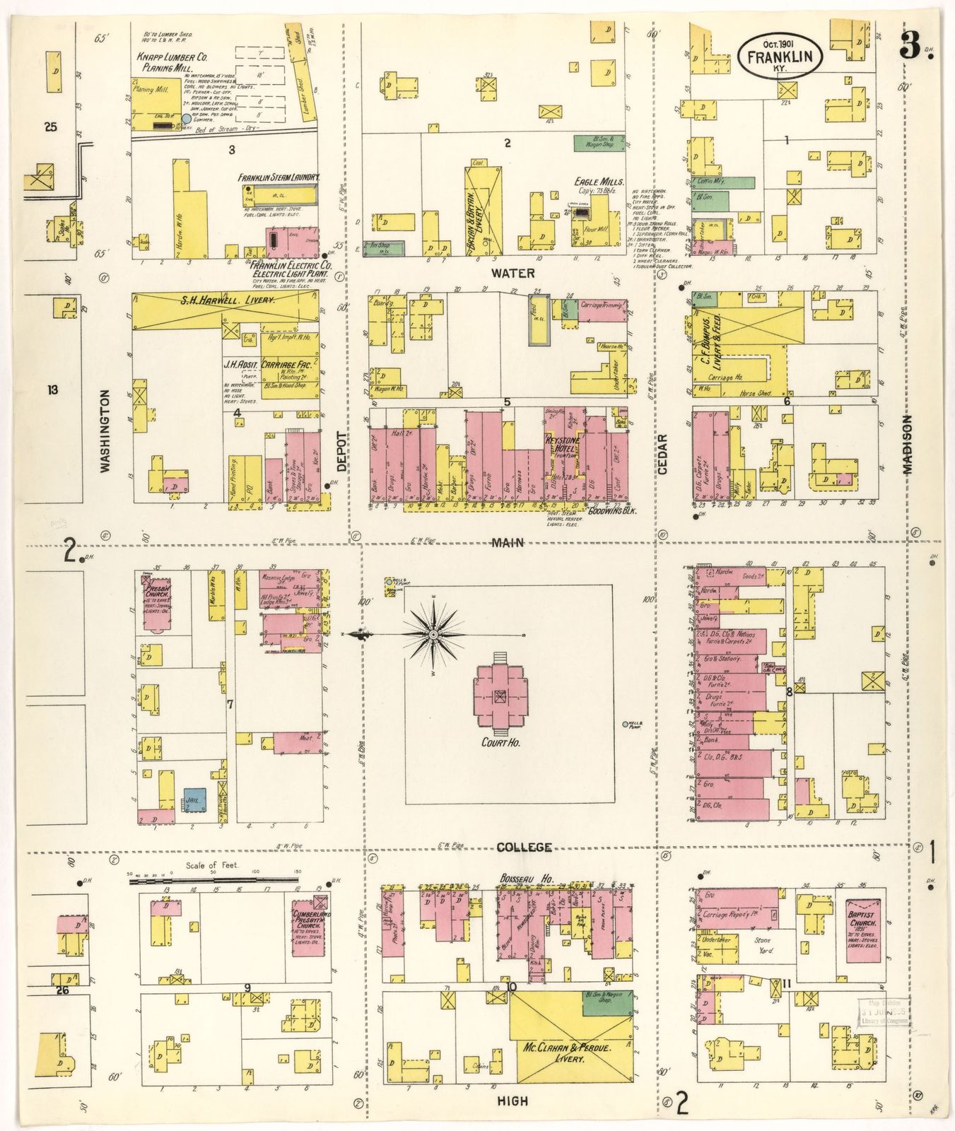 Sanborn Fire Insurance Map from Franklin, Simpson County, Kentucky ...