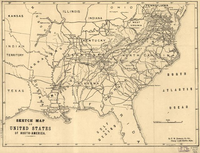 Sketch map of United States of North-America. [1861-65]