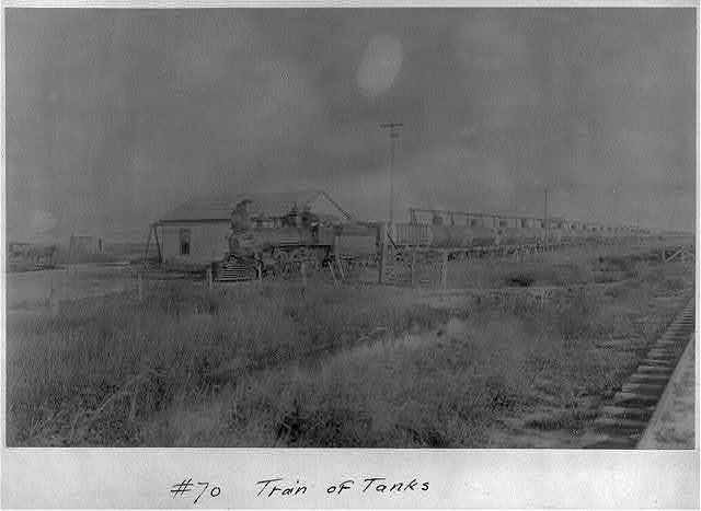 Spindletop, Beaumont, Port Arthur, and vicinity, Texas - oil industry: Train of Tanks [tank cars]