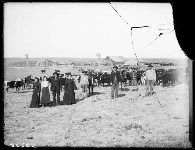 Stock ranch in Cherry County, Nebraska.