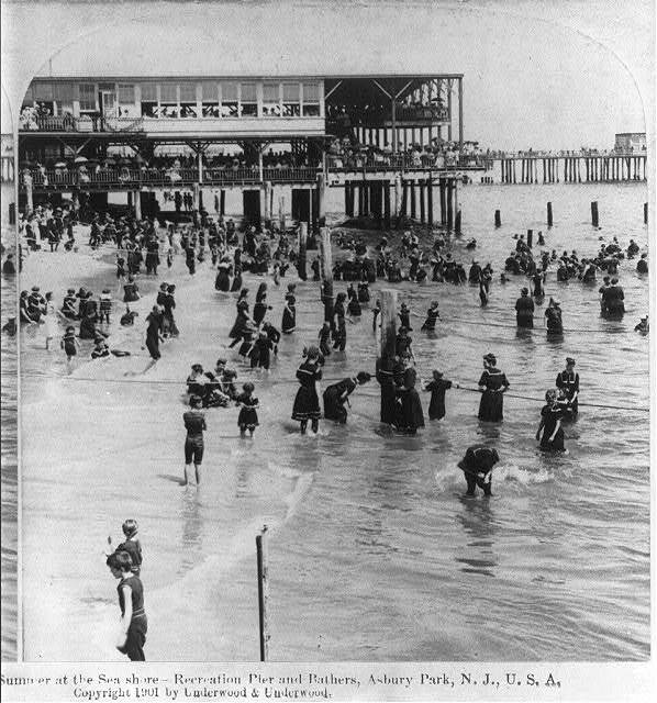 Summer at the sea shore - Recreation Pier and bathers, Asbury Park, N.J.