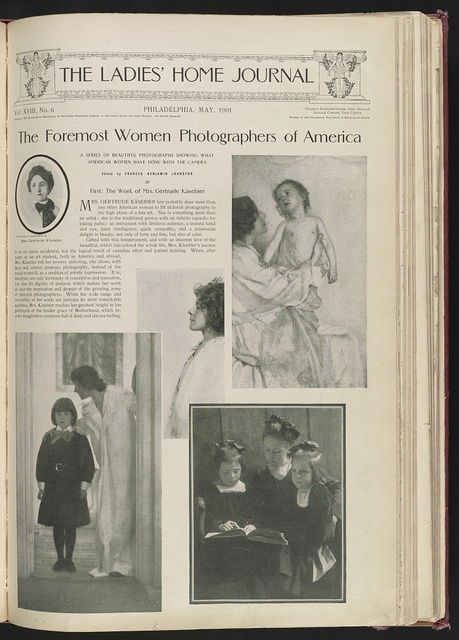 The foremost women photographers of America A series of beautiful photographs showing what American women have done with the camera. First: The work of Mrs. Gertrude Käsebier / / Edited by Frances Benjamin Johnston.