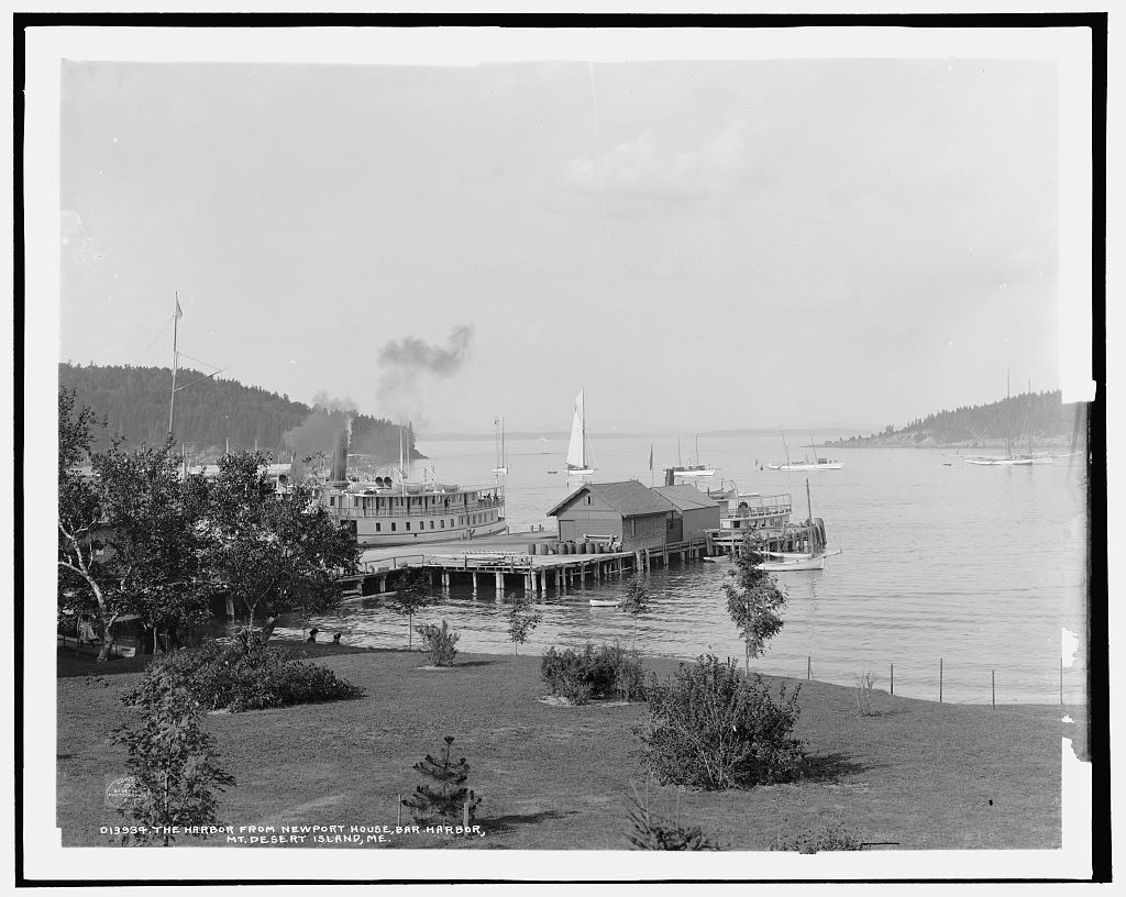The Harbor from Newport House, Bar Harbor, Mt. [i.e. Mount] Desert Island, Me.