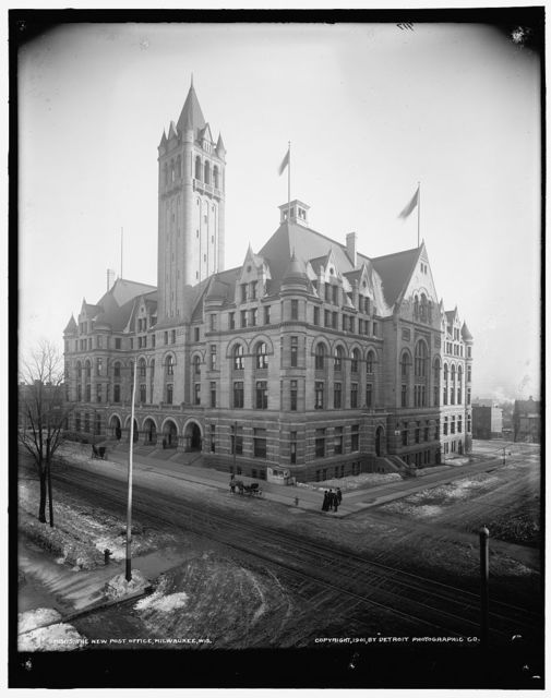 The New post office, Milwaukee, Wis.