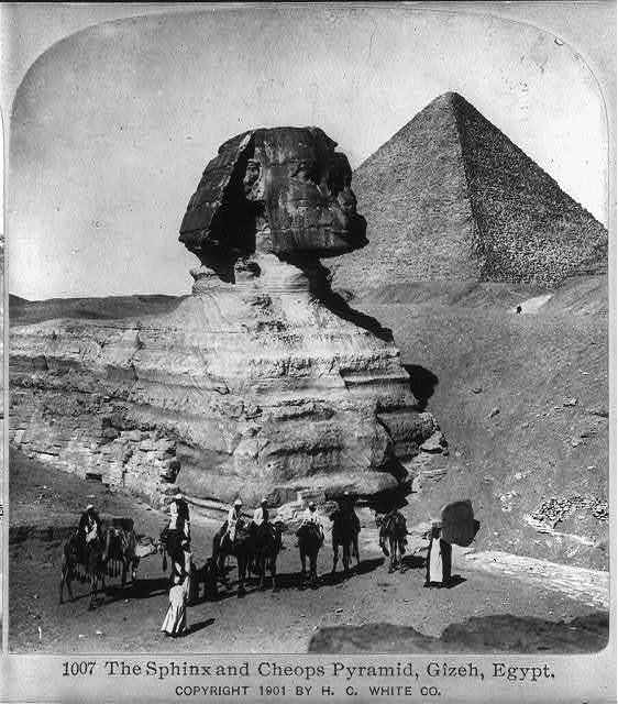 The Sphinx and Cheops Pyramid, Gizeh, Egypt