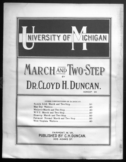 University of Michigan march and two step