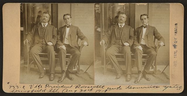 Vice President Roosevelt and Governor Yates, Springfield, Ill.