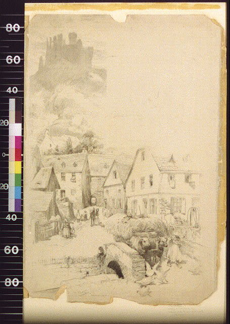 Welmich, with the ruins of its castle, the Mouse / A. Castaigne.