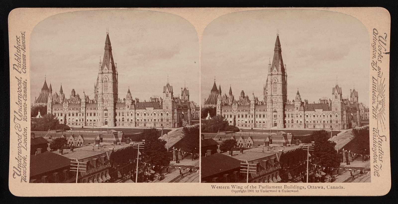 Western wing of the Parliament buildings, Ottawa, Canada