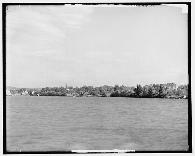 [Wolfeborough from the lake, Lake Winnipesaukee, N.H.]