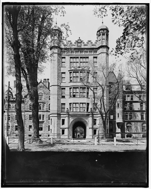 [Yale College, Phelps Hall and gateway]