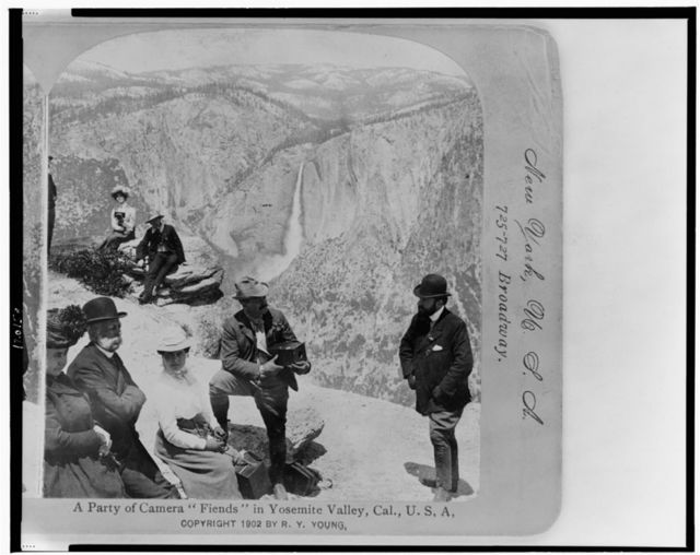 "A party of camera ""fiends"" in Yosemite Valley, Cal., U.S.A."