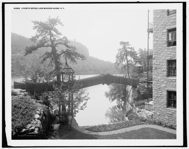 A Rustic bridge, Lake Mohonk House, N.Y.