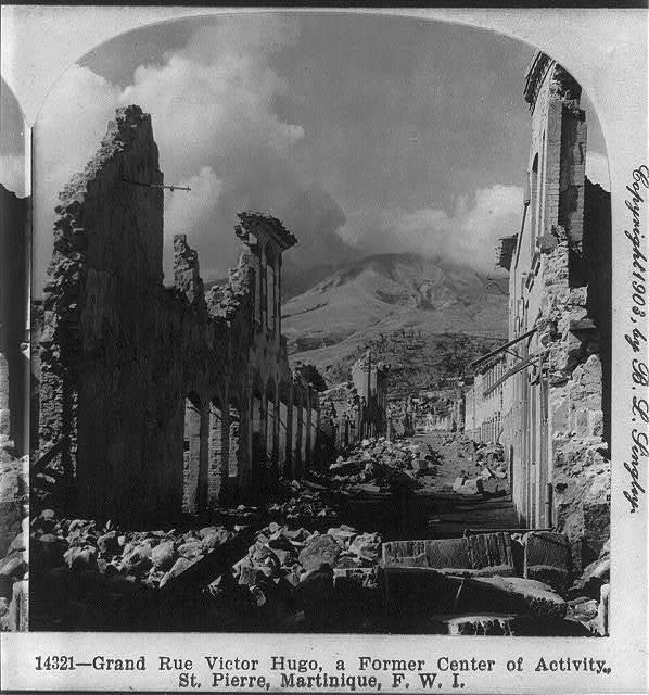 [After the volcanic eruption of Mount Pelée, Martinique, 1902: Grand Rue Victor Hugo...St. Pierre]