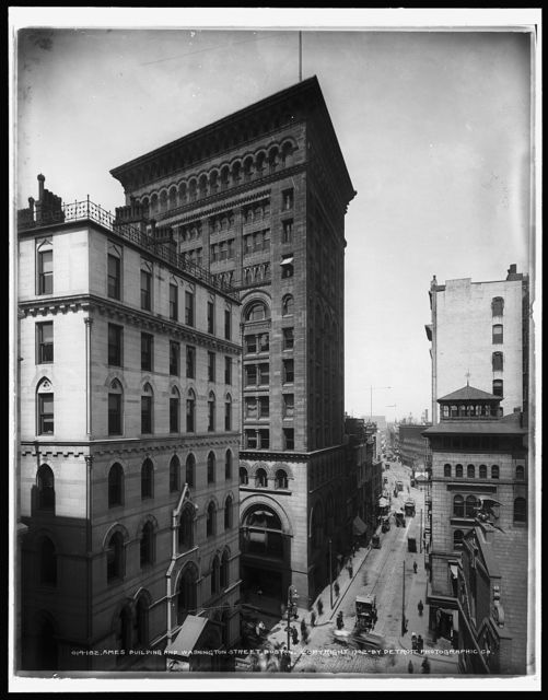 Ames Building and Washington Street, Boston