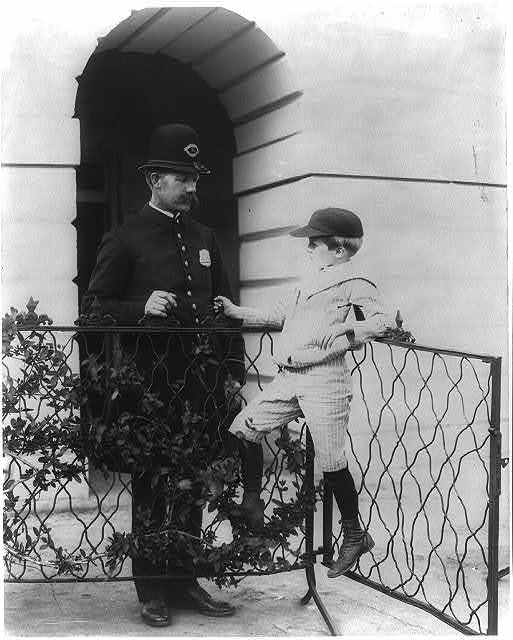 Archie Roosevelt and his friend the policeman